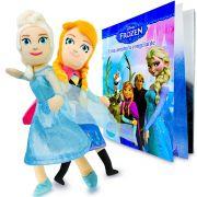 Bonecas de Pelúcia Frozen Anna Elsa mais Livro de Atividades