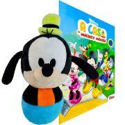 Boneco De Pelúcia Pateta e Livro para Colorir Disney