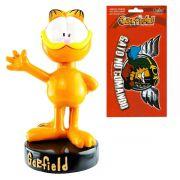 Boneco Garfield Em Resina mais Adesivo Decorativo