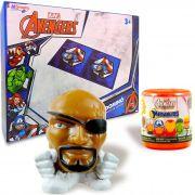 Boneco Mashems Vingadores Mais Dominó Cartonado Avengers