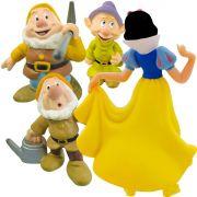 Branca De Neve E 3 Anões Coleção Minhas Miniaturas Disney