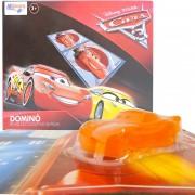 Brinquedo Deslizante Relâmpago Mcqueen + Dominó Cartonado