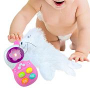 Brinquedo Para Bebê Celular Com Luz E Sons Mais Foca de Pelúcia