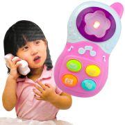 Brinquedo Para Bebê Celular Infantil Com Luz E Sons Rosa