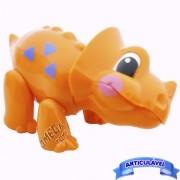 Brinquedo para Bebê Dinossauro Articulado Minha Primeira Coleção Mini Animais - CKS
