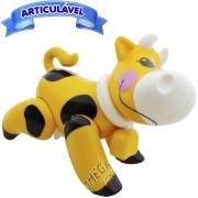 Brinquedo para Bebê Vaca Articulada Minha Primeira Coleção Mini Animais - CKS