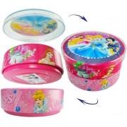 Caixa De Lata Com Divisória Princesas Disney