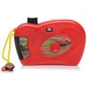Camera Divertida com 8 Imagens Coloridas Carros Disney Vermelha