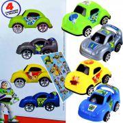 Carrinho A Fricção Toy Story 4 Peças Comando Estelar + Adesivo