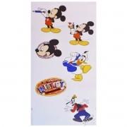 Cartela com 6 Adesivos de Parede Mickey Disney - Gedex