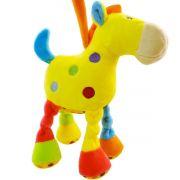 Cavalo de Pelúcia Amarelo com Chocalho  - Unik Toys