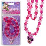 Colar Importado Coração Minnie com Pingente Disney
