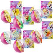 Coleção 6 Bolinhas de Silicone Importadas Princesas Disney
