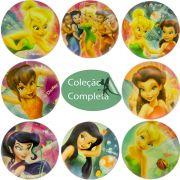 Coleção Completa 8 Bolinhas Maciças Importadas Fadas Disney