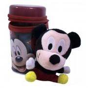 Coleção Chaveiro de Pelúcia com Lata Porta Treco Mickey Disney - Taimes