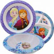 Coleção Com 2 Pratos 1 Tigela Infantil Frozen Disney Oferta