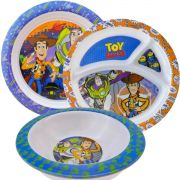 Coleção Com 2 Pratos E 1 Tigela Infantil Toy Story Disney