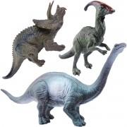 Coleção com 3 Mini Dinossauros Mundo Jurássico