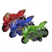 Coleção com 3 Mini Motos de Fricção Vingadores Marvel