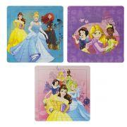 Coleção com 3 Quebra Cabeças Princesas Disney