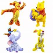 Coleção com 4 Miniaturas Ursinho Pooh e seus Amigos Disney