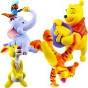 Coleção 4 Miniaturas Ursinho Pooh e seus Amigos Disney