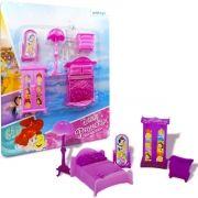 Coleção com 5 Mini Móveis Quartinho Princesas Disney