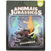 Coleção com 6 Mini Dinossauros Animais Jurássicos - Ark Toys