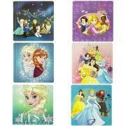Coleção Com 6 Quebra Cabeças Frozen E Princesas Disney