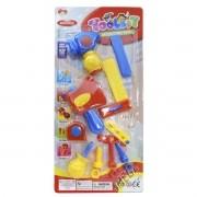Coleção com Ferramentas de Brinquedo Coloridas