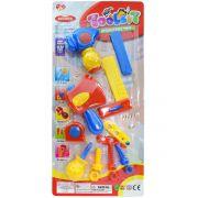 Kit Ferramentas Brinquedo Jogo Completo De 13 Acessórios