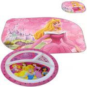Coleção Jogo Americano E Prato Com Divisórias Princesas Disney