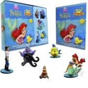 Coleção Leia e Brinque Miniaturas + Livrinho Sereia Ariel Princesas Disney - DCL