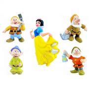 Coleção Minhas Miniaturas Disney Branca De Neve E 4 Anões