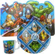 Coleção Jogo Americano Prato e Caneca Vingadores Marvel