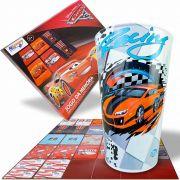 Copo Plástico Grande 550 Ml + Jogo Da Memória Carros Disney