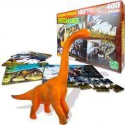 Dinossauro Braquiossauro Boneco + 400 Peças Em Quebra Cabeça