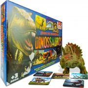 Dinossauro Triceratopes Boneco Jurássico + Jogo de Memória