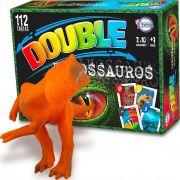 Dinossauro Velociraptor Boneco Jurássico + Jogo Double Dino
