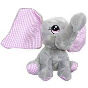 Elefante Cinza Pelúcia Importada Fizzy Antialérgica