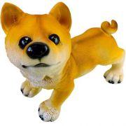 Enfeite Decorativo Cachorro em Resina 23 cm