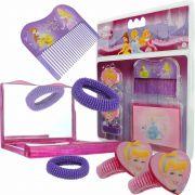 Espelho De Bolsa Infantil Com 5 Acessórios Princesas Disney