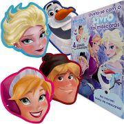 Livro De Aventuras Divertidas Frozen 4 Máscaras Dcl Disney