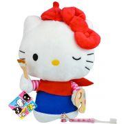 Hello Kitty Pintora Boneca De Pelúcia Sanrio Dtc Mais Escova