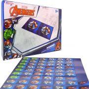 Jogo Dominó Avangers Vingadores Brinquedo Educativo 28 Peças