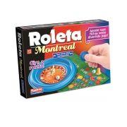 Jogo Roleta Montreal com 50 Fichas Tabuleiro Bolinha Pino