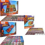 Kit 3 Jogos Memória Dominó Mini Baralho Homem Aranha Marvel