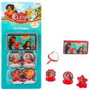 Kit 4 Carimbos Infantis Elena de Avalor e 1 Acessório Disney
