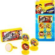 Kit 4 Carimbos Infantis Mickey e 1 Acessório Disney Junior