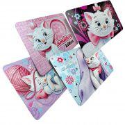 Kit 4 Quebra Cabeças Cartonados Gata Marie Disney 252 Peças
